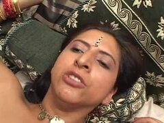 Sexy Indian Girl Getting Her Wet Hairy Pussy Fucked by Three Dicks