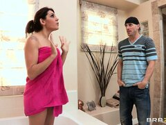 Horny bald stud helps his friends mom...