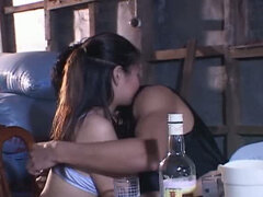 Group sex session in the dirty room with Asian hoe Manila