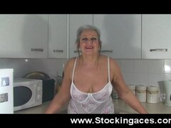 Sexy Mature Slut  Fucks herself In Kitchen