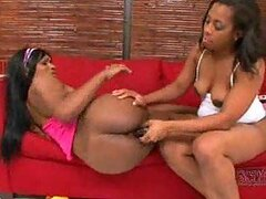 Black milf and teen have lesbian sex