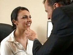 Office whore Tiffany Taylor is fucked hard on floor by her horny boss