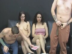 Strip Screw-Your-Neighbor with Dick, Holly, Zayda, and Franco