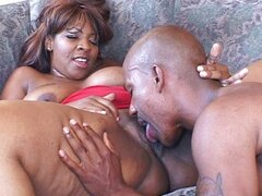 Big ass ebony lady receives pleasure treatment