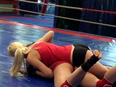 Ashley and Alexa Wild fondle each others tits on the ring