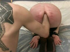 Tied and fist after caning