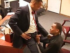 Cute black gay stud got hiss asshole pumped in the office