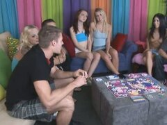 Nine amateurs playing sex board games