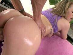 Madison Chandler shows her beef curtains and enjoys multiposition sex