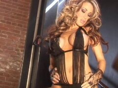 Sizzling solo action with smoking Sandee Westgate