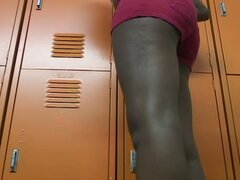 Amateur voyeur in locker room