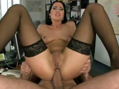 Horny secretary helps her boss