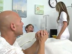 Hot Threesome With Nurse and Patient In The Hospital