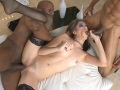 Jenna Haze likes a nice black cock to give her that hard pounding