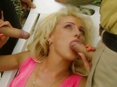 Zora Banx gangbanged by friends