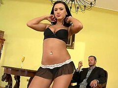 Spectacular Brunette Teen Angelica Kitten Gets a Rough Fuck after Dance