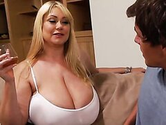 Samantha 38G fucks with her son's freshly-turned-21 friend!