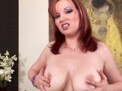 Busty milf is horny and wild
