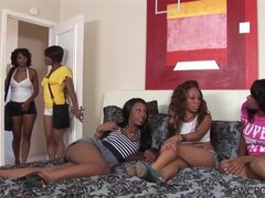 Imani Rose and Melrose Foxx in the hardcore foursome