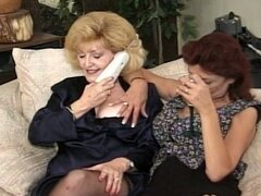 Two grannies get hardcore fucked from two younger cocks
