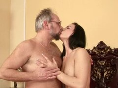 German teacher makes her student go horny on him