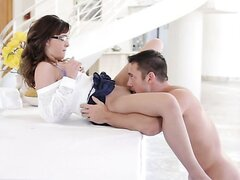 One more sweet babe Jaslene in an erotic movie. Professional video.