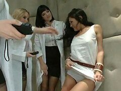 Three Hot Lesbian Psychologists Fucking a Loon Gal in BDSM Foursome