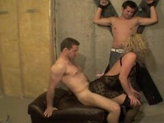 Shannon - Husband bound and she get FUCKED