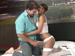 Tranny Whore Jenny Cortez Gets Slammed in the B-Hole!