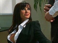 Lisa Ann Shares a Cock with Nikki Benz After Giving Head to Another Cock