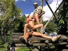 Two Cocks For The Horny Blonde Jessica Moore In Outdoors Sex Vid