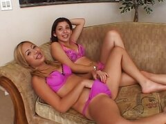 Threesome with teen  Chanel Chavez, and Kat