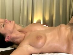 Massage model amateur tit and pussy plowed