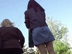 Girls in stockings on the street video compilation