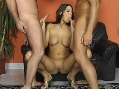 Alluring babe was double penetrated in insane mmf threesome
