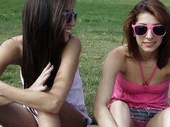 Two Teen BFFs Crave At The Park