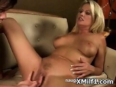 Busty Hot Milf Seduced And Pegged Hard
