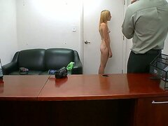 Many girls want to be in the porn biz but not all have what it takes Karmen Blaze gets an interview and strips off in the office but has she got enough to satisfy Check her out and see what you think.
