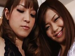 Japanese idol Nao and a horny girlfriend driv