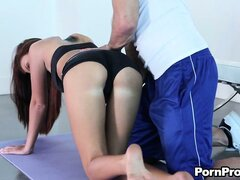 Whitney Westgate, an athletic brunette with a sexy body, is on the prowl for sex action