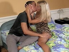 Skinny blonde is shaved and horny for sex