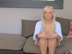 Hot blonde young amateur tricked in casting interview