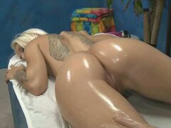 Hot blonde stevie shae gets an oiled up massage