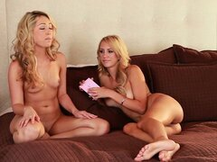 Watch as these two babes play an increasingly more daring game
