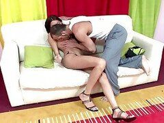 Young latina shemale itiel  ridding reverse cowgirl style
