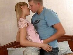 Lovely amateur virgin gets banged by her well hung lover