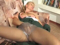 Blonde milf maid enticing young cock for some hardcore pumping