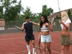 Sexy Tennis Players Have A Wet Threesome In A Shower