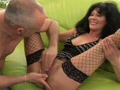 Kinky old lady gets screwed hard