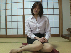 Submissive Yoko Ikeda is ready for sex in the Japanese style house